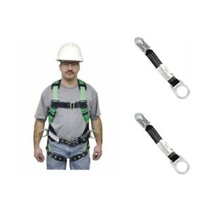 Lot 3 Miller Fall Protection 650t 61 lgk With Two 18in D ring Ext 8928 18inbk