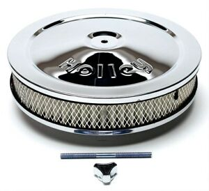 Holley Chrome Air Cleaner Assemblies 10 Inch Round 120 145