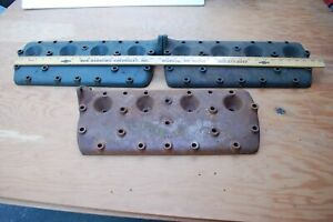 Vintage Flathead Ford Cylinder Heads Believed To Be 1936 Cast Iron Original