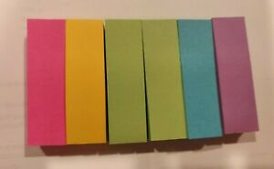 Post It 5 Paper Flag 600 Count Pink Blue Green Purple Yellow Office Sticky
