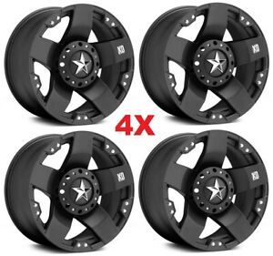 24x12 Black Wheels Rims Xd Rockstar Fuel Moto Metal 1500 F 150