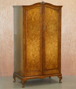 Small Circa 1930 S Figured Walnut Wardrobe With Internal Drawers Part Of Suite