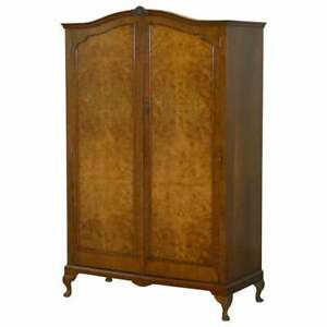 Very Large Circa 1930 S Figured Walnut Double Wardrobe Part Of Bedroom Suite