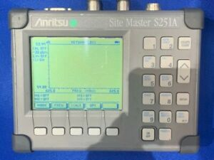 Anritsu Site Master S251a Cable Antenna Analyzer W opt 5 10