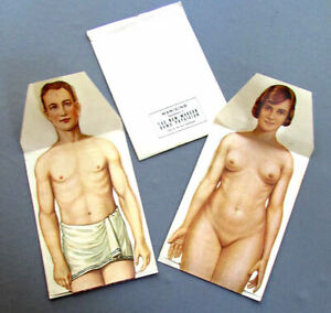 Vintage New Modern Home Physician Supplement Folding Paper Medical Manikins