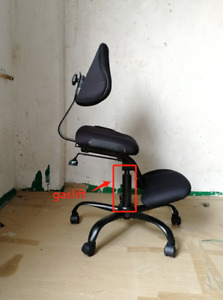 Unique Ergonomic Kneeling Chair With Gas Lift And Adjustable Seat Black