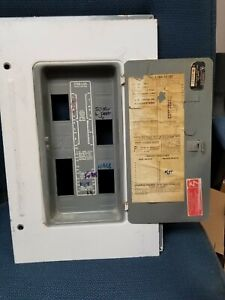 100 125 Amp Federal Pacific Panel Cover Split Buss L1306 12 125 21 Circuit