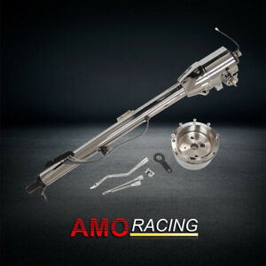 32 Chrome Tilt Auto Automatic Style Steering Column Gm W Key Fits Hot Rod
