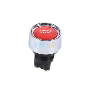 12v Dc Red Led Car Engine Start Push Button Switch Ignition Starter Touch Kit Ap
