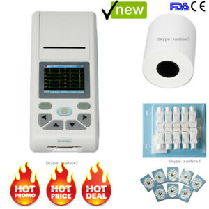 Ecg Machine Single Channel Electrocardiograph 12 Lead Touch Ekg Monitor software