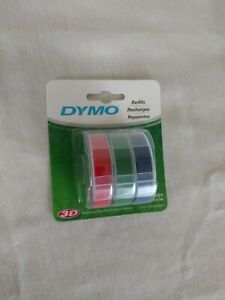 Dymo 3 8 In W X 9 8 Ft L Blue green red Lable Maker Tape A001