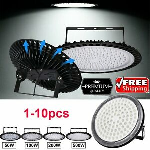1 20 Pack Ufo Led High Bay Light Factory Warehouse Gym Shop 50 500w Flood Lamp