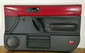 98 10 Vw Beetle Coupe Right Passenger Side Door Panel Red Black Power Windows