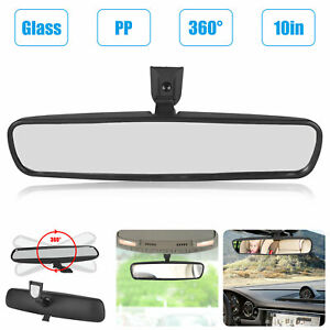 10 Universal Wide Flat Auto Truck Mirror Interior Rear View Mirror Clip On Car