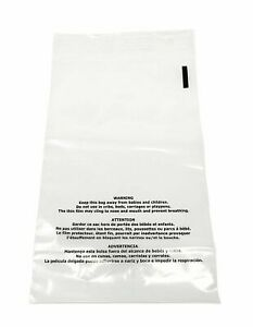 1000 8x10 Suffocation Warning Bags Plastic Clear Premium Self Seal Poly 1 5 Mil
