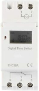 Programmable Timer Switch Time Relay Guide Rail Type Digital Lcd Din 30a Rail Ac