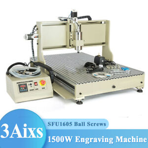 4 3 Axis Cnc 6090 Router Engraver 1 5kw 2 2kw Pcb 3d Engraving Milling Machine