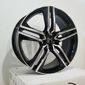 Set Of 4 Wheels 19 Inch Black Machined Rims Fits Honda Accord Coupe 4 Cyl 08 18