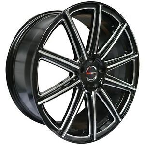 4 G42 Mod 20 Inch Black Rims Et20 Fits Jeep Grand Cherokee Overland 2012