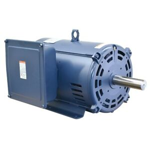 10hp Single Ph Electric Motor New Leeson 1740 230 Volts 215t Fr Compressor Duty