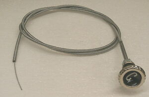 60 61 62 63 Chevy Gmc Truck Choke Cable With Knob Delxue