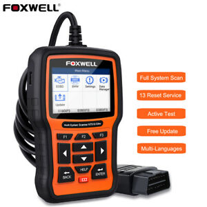 Foxwell All System Obd2 Diagnostic Scanner Abs Sas Dpf Epb Oil Tpms Reset Tool