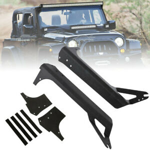 Fit Jeep Wrangler Tj 97 06 52 Led Light Bar Upper Roof Mount Bracket A Pillar