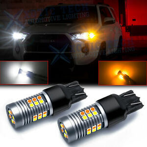 Switchback 7443 7444na Led Front Turn Signal Light Drl Bulbs Blinker For Toyota