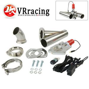 2 5inch Stainless Steel Headers Electric Exhaust Cutout Kit With Remote Control