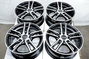 14 Black Wheels Rims Fits Kia Rio Honda Accord Civic Mazda Miata Corolla 4 Lug