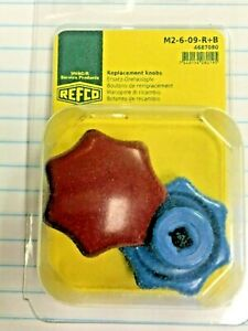 Refco 1 2 way Manifolds Replacement Knobs Red Blue Part M2 6 09 r B