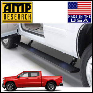 Amp Research Powerstep Electric Running Boards Fit 2019 2020 Silverado Crew Cab