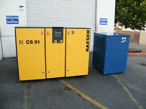 Kaeser Cs91 75 Hp Rotary Screw Air Compressor W Dryer Ingersoll Rand Quincy