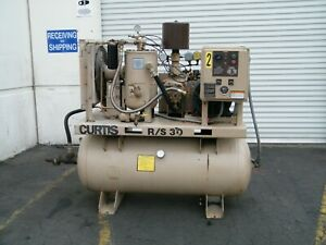 Curtis R s 30 Hp Rotary Screw Air Compressor Ingersoll Rand Kaeser Quincy