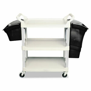 Rubbermaid Commercial Xtra Utility Cart 300 lb Cap Two shelves 20w X 40 5 8d X