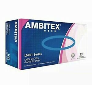 Ambitex Latex Gloves 100 box new Sealed Boxes