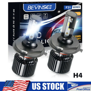 Bevinsee H4 9003 Led Headlight For Nissan Versa 07 19 6000k Hi lo Beam Mini Bulb