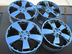 19 Brand New Chromed Mercedes Ml R Gl Oem Factory Original Wheels Only No Tires