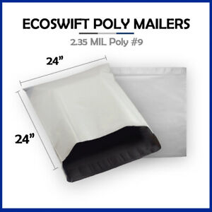 1 24x23 Ecoswift Poly Mailers Large Plastic Envelopes Shipping Bags 2 35mil