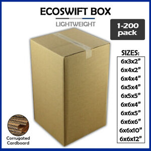 6 Corrugated Cardboard Boxes Shipping Supplies Mailing Moving Choose 11 Sizes