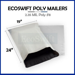 1 19x24 Ecoswift Poly Mailers Large Plastic Envelopes Shipping Bags 2 35mil