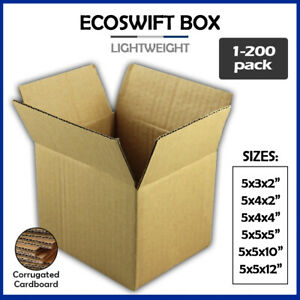 5 Corrugated Cardboard Boxes Shipping Supplies Mailing Moving Choose 6 Sizes