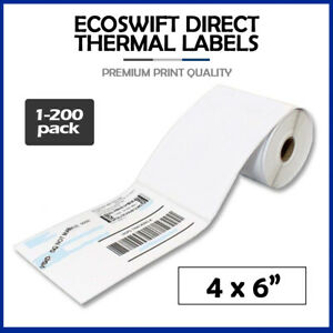 4x6 Direct Thermal Labels Rolls 100 250 1000 For Eltron Zebra 2844 450 Shipping