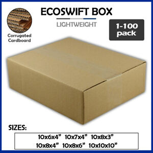 10 Corrugated Cardboard Boxes Shipping Supplies Mailing Moving Choose 6 Sizes