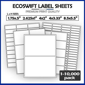 Self adhesive Laser Printer Shipping Mailing Address Labels For Ebay Paypal More