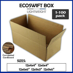 12 Corrugated Cardboard Boxes Shipping Supplies Mailing Moving Choose 5 Sizes