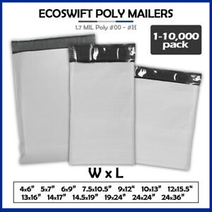 Poly Mailers 2 35mil Shipping Envelope Mailing Bags Plastic Seal Choose Size