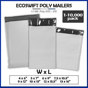 Poly Mailers 1 70mil Shipping Envelope Plastic Mailing Bags Sealing Choose Size
