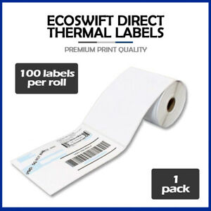 100 4x6 ecoswift Direct Thermal Labels Eltron Zebra 1 Core 100 Per Roll