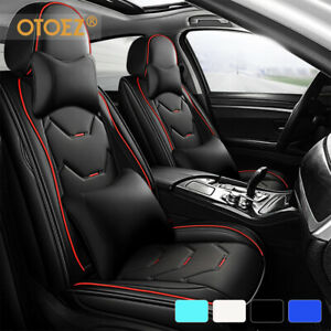 5 Seat Universal Car Seat Cover Deluxe Leather Cushion Full Set Protect 4 Season